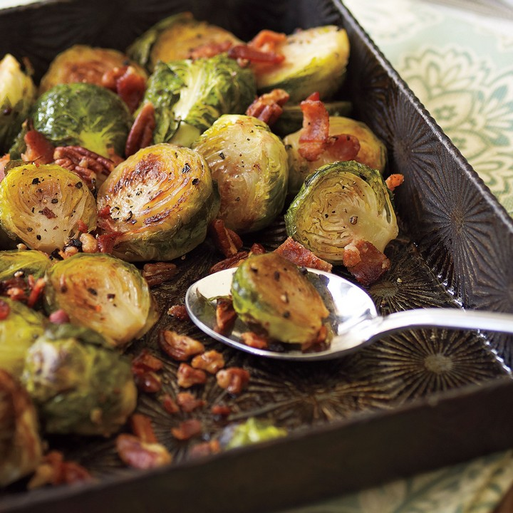 Bacon Glazed Brussels Sprouts