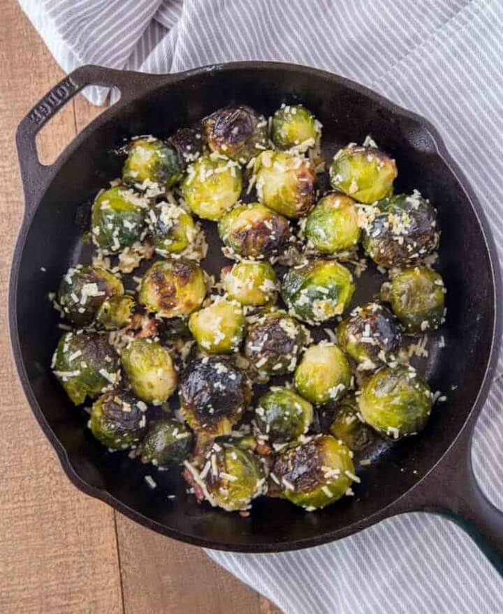 Bacon Parmesan Brussels Sprouts 1