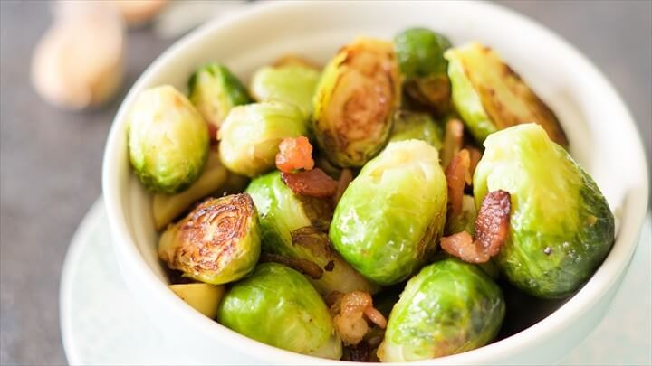 Bacon Roasted Brussels Sprouts Recipe 1