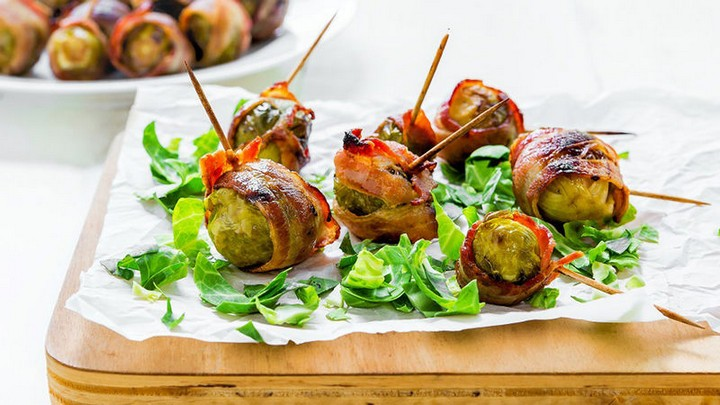 Bacon wrapped Brussels Sprouts 2