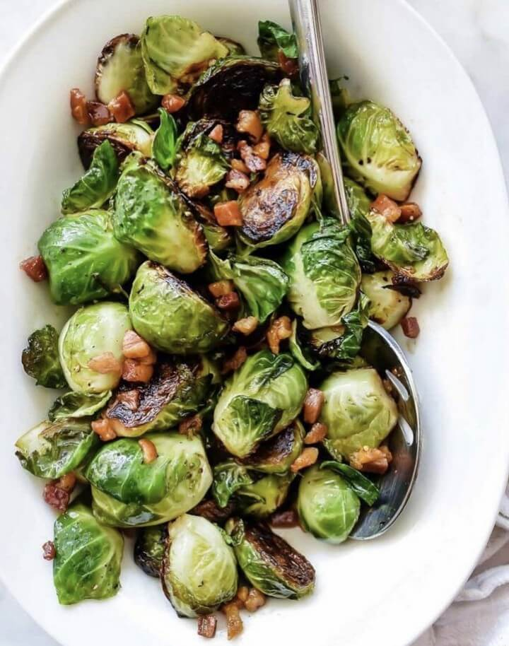 Balsamic Bacon Brussel Sprouts