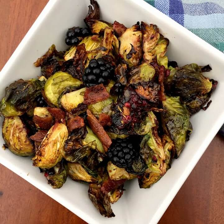 Blackberry Bacon Brussels Sprouts