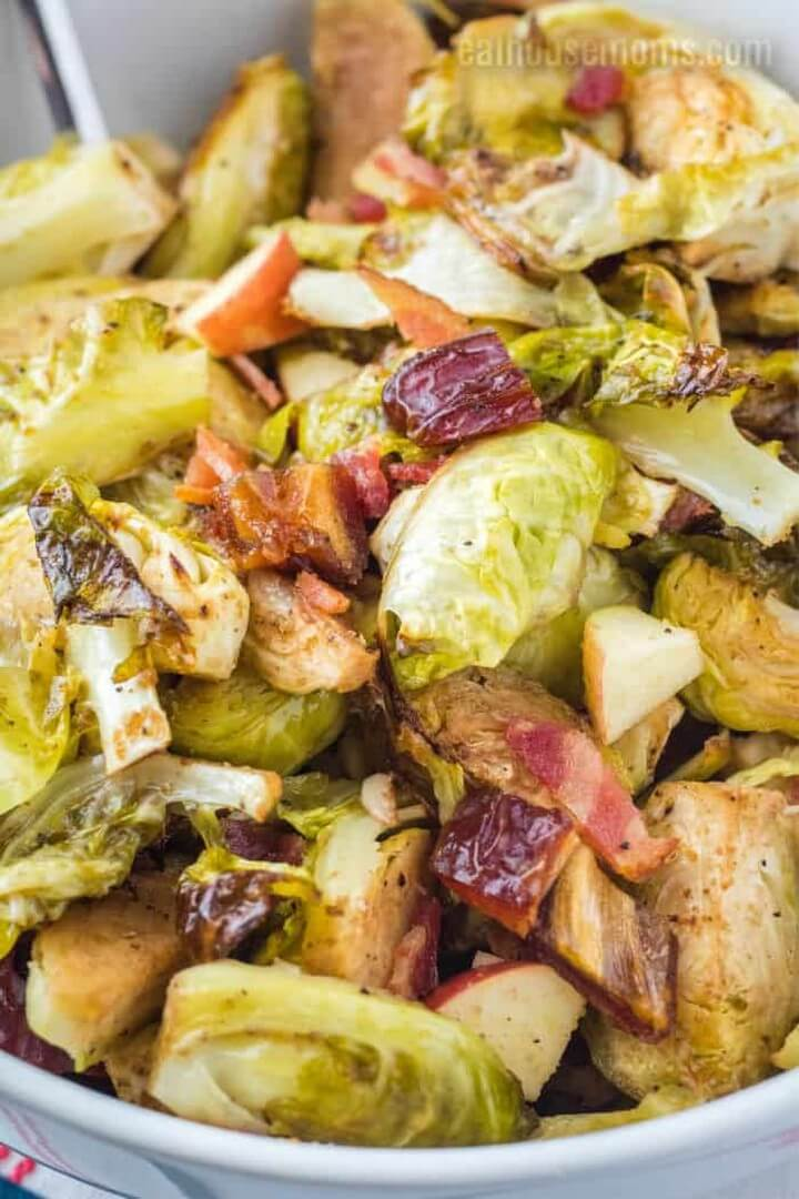 Brussel Sprouts with Bacon Dates and Apples 1