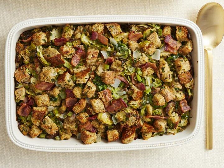 Brussels Sprouts Bacon Stuffing