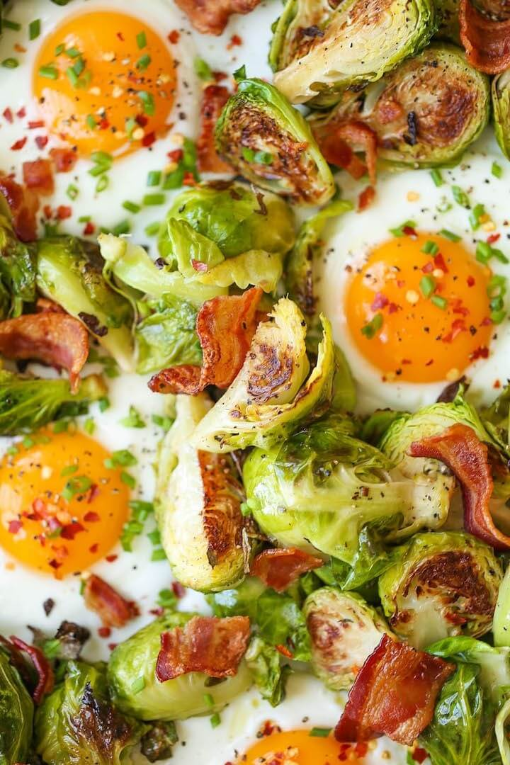 Brussels Sprouts Eggs and Bacon 1