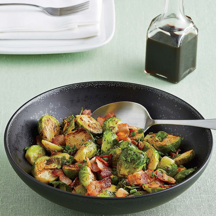 Brussels Sprouts with Bacon Balsamic