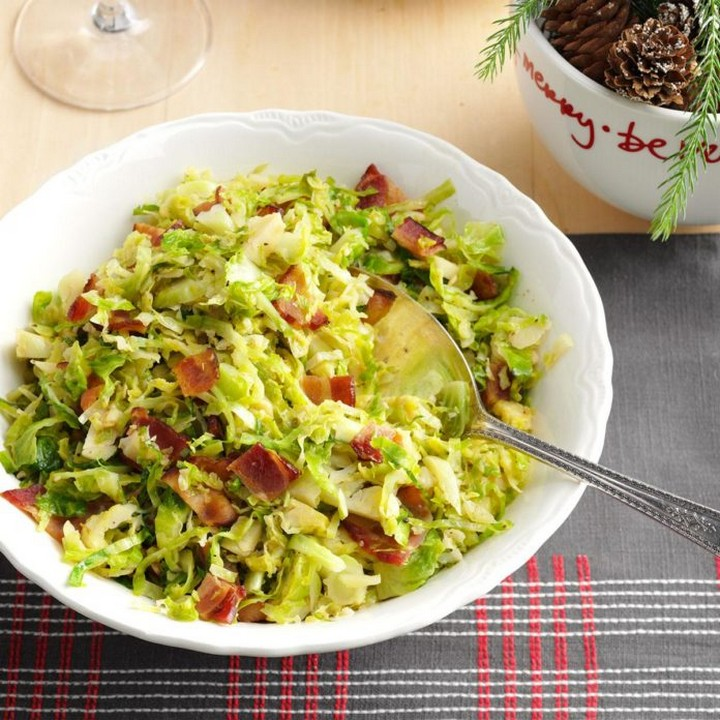 Brussels Sprouts with Bacon Garlic