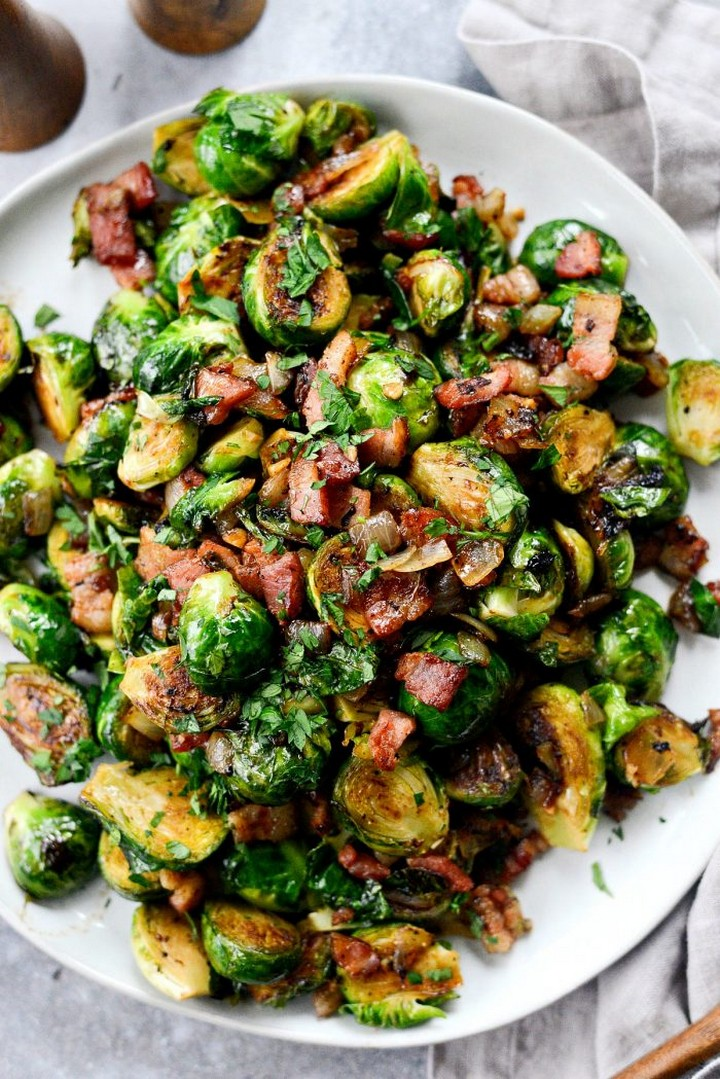 Caramelized Balsamic Glazed Brussels Sprouts 1