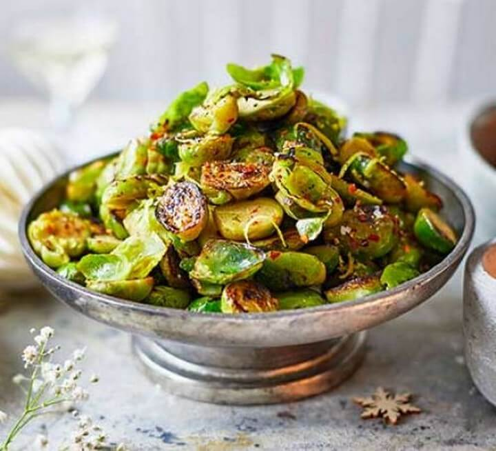 Chilli charred Brussels sprouts