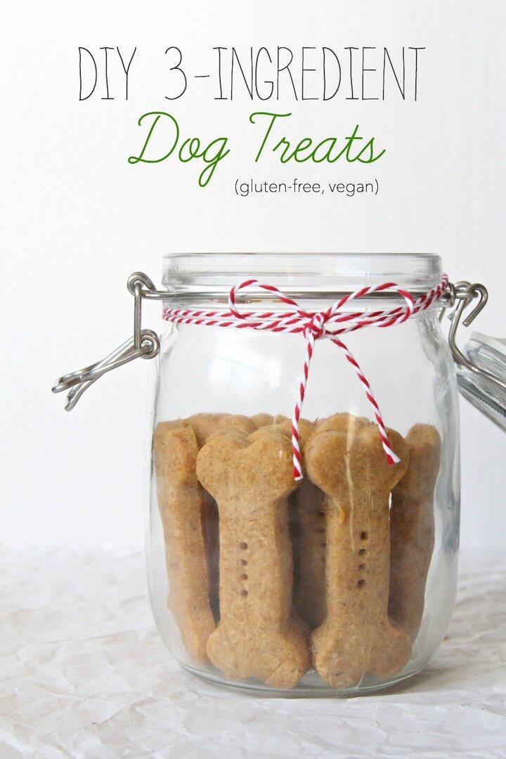 DIY 3 Ingredient Vegan Dog Treats