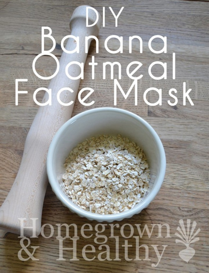 DIY Banana And Oatmeal Mask
