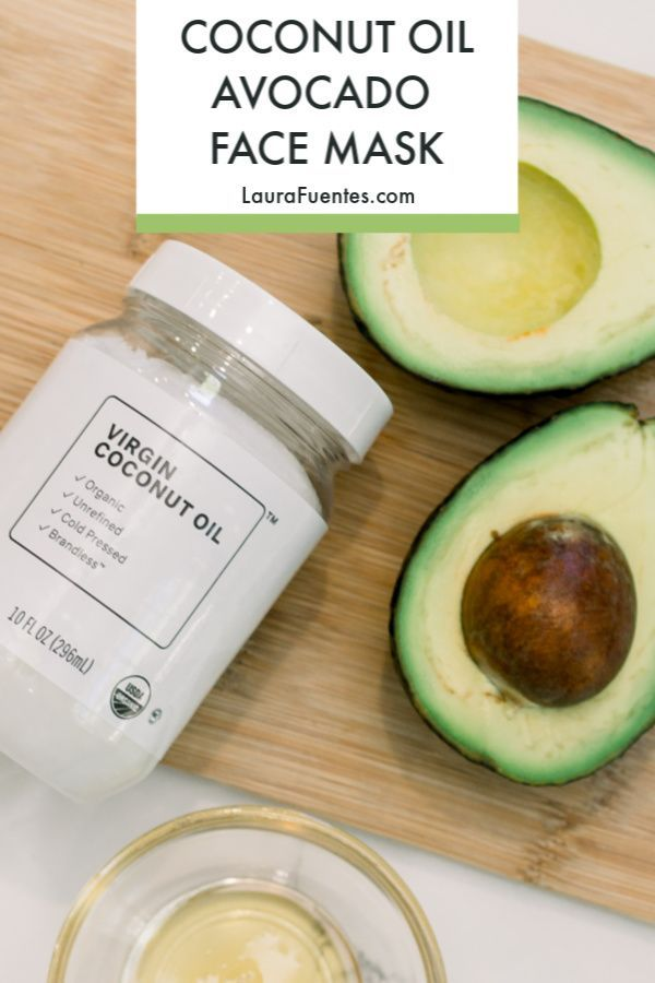 DIY Coconut Oil Avocado Face Mask
