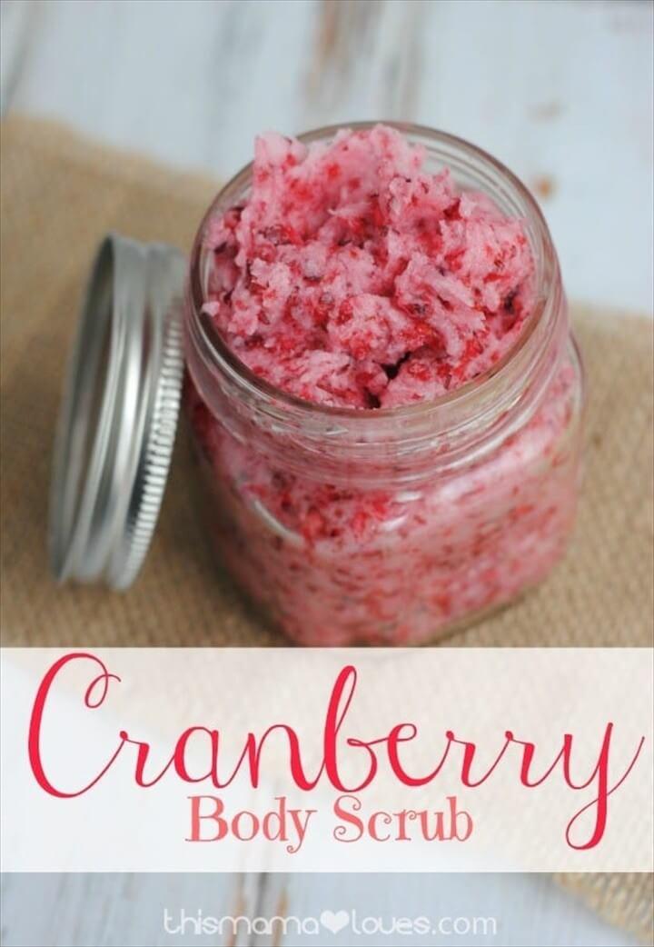 DIY Cranberry Body Scrub