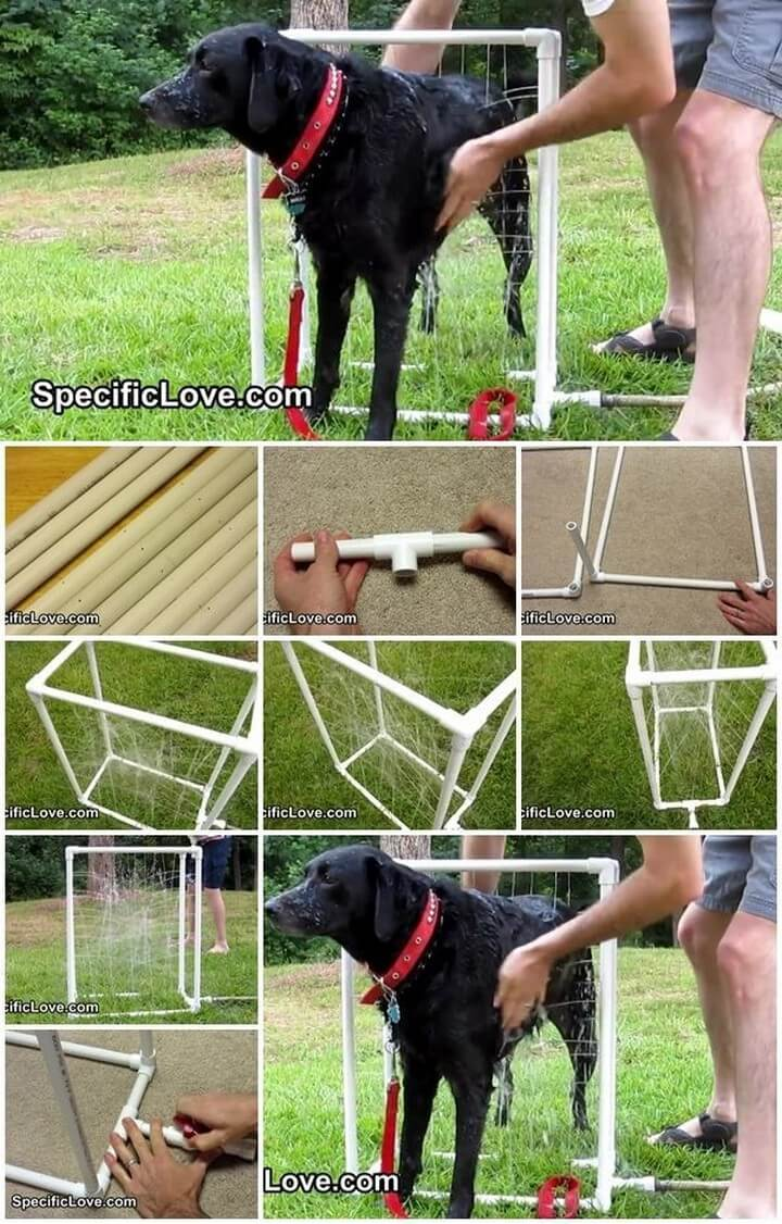 DIY Custom Dog Washer Out of PVC Piping