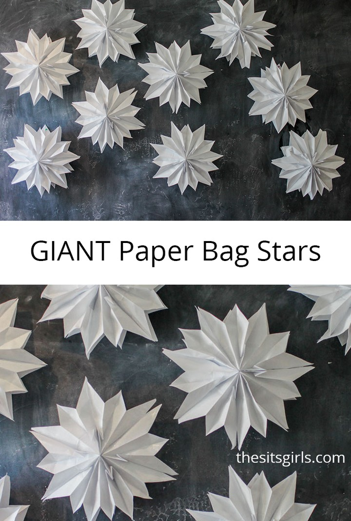 DIY Giant Paper Bag Stars