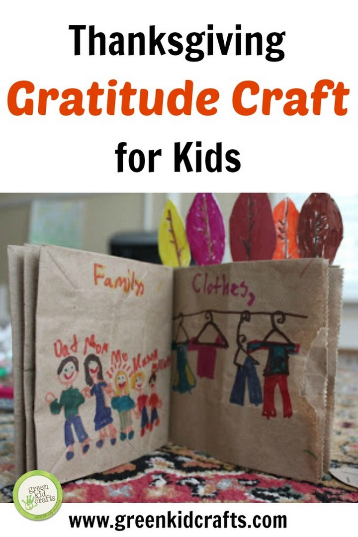 DIY Gratitude Book Thanksgiving Craft for Kids