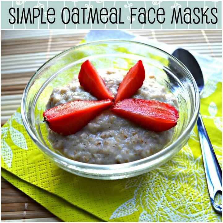 DIY Homemade Oatmeal Face Mask Recipe