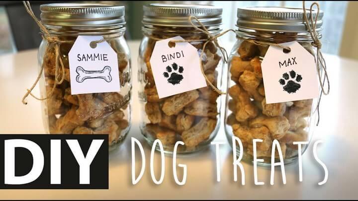 DIY Homemade Peanut Butter Dog Treats