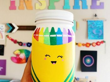 DIY Mason Jars Craft for School Supplies