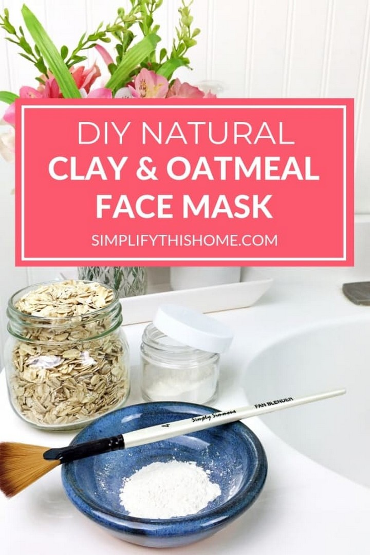 DIY Natural Face Mask with Clay and Oatmeal for All Skin Types