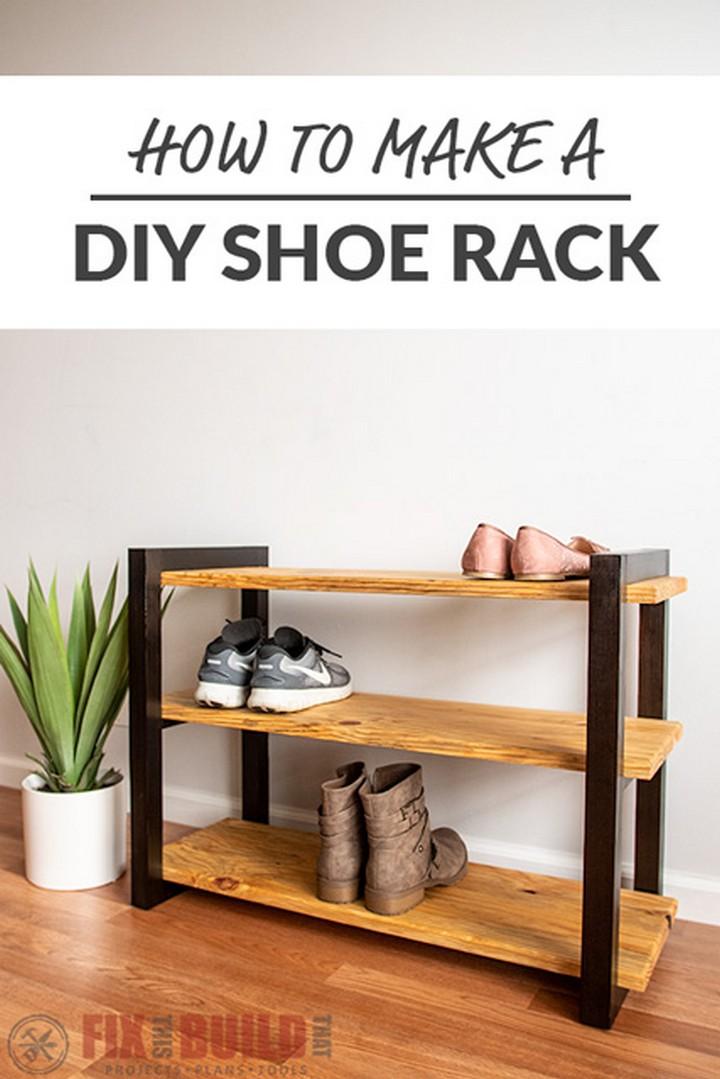 DIY Shoe Rack with a Shou Shugi Ban Finish