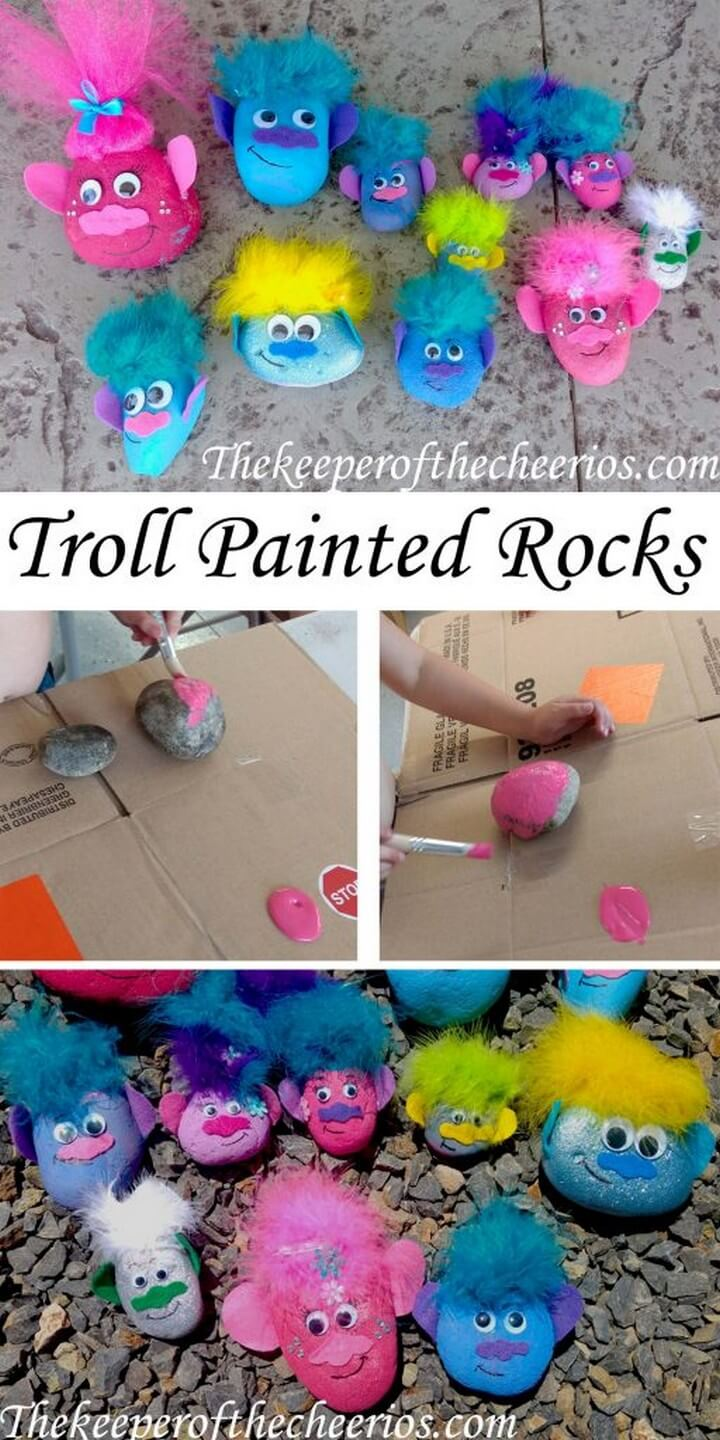 DIY Troll Painted Rocks