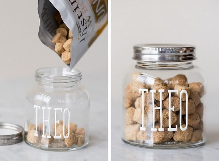 Easiest DIY Dog Treat Jar