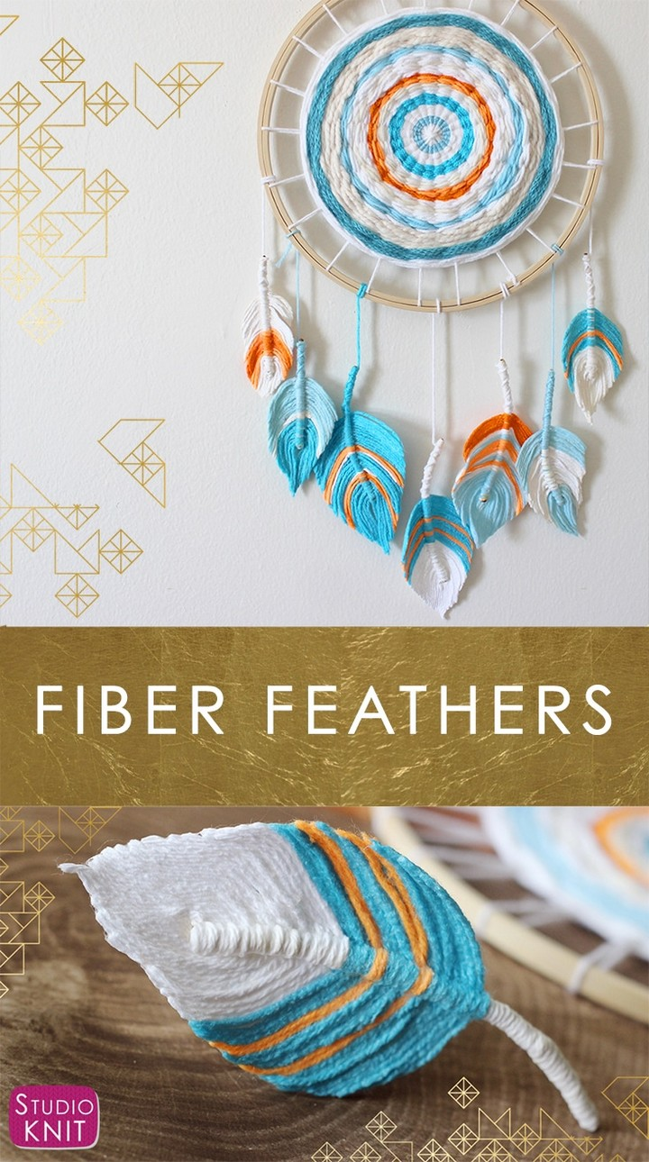 Fiber Feather Dreamcatcher DIY Craft