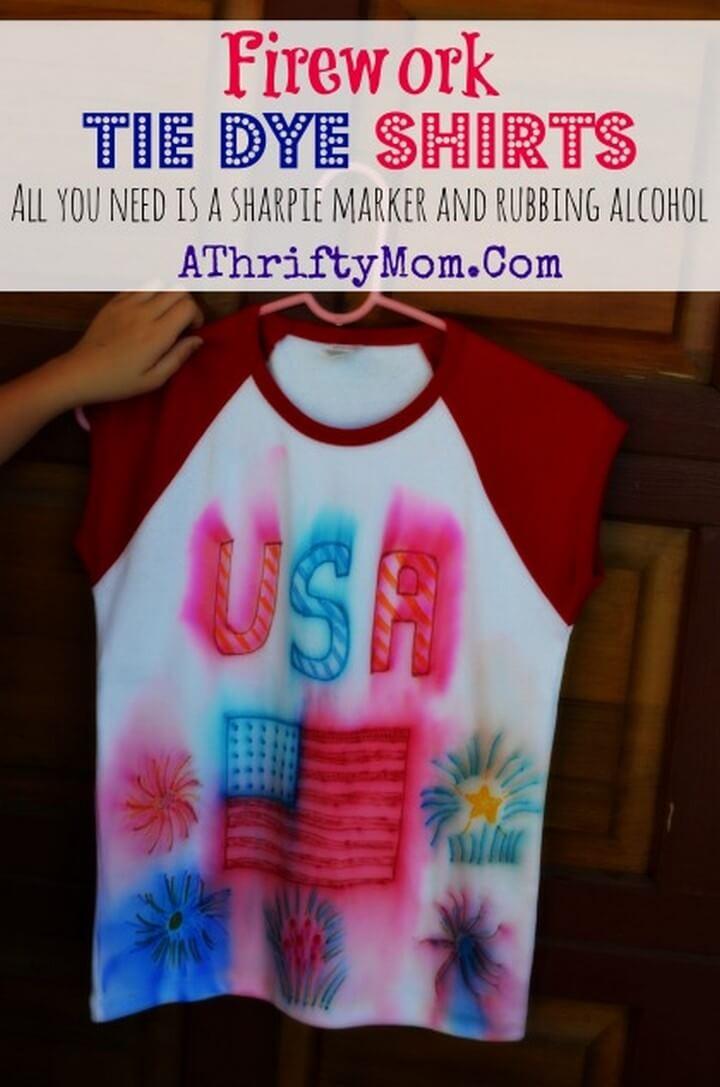 Firework Tie Dye Shirts DIY