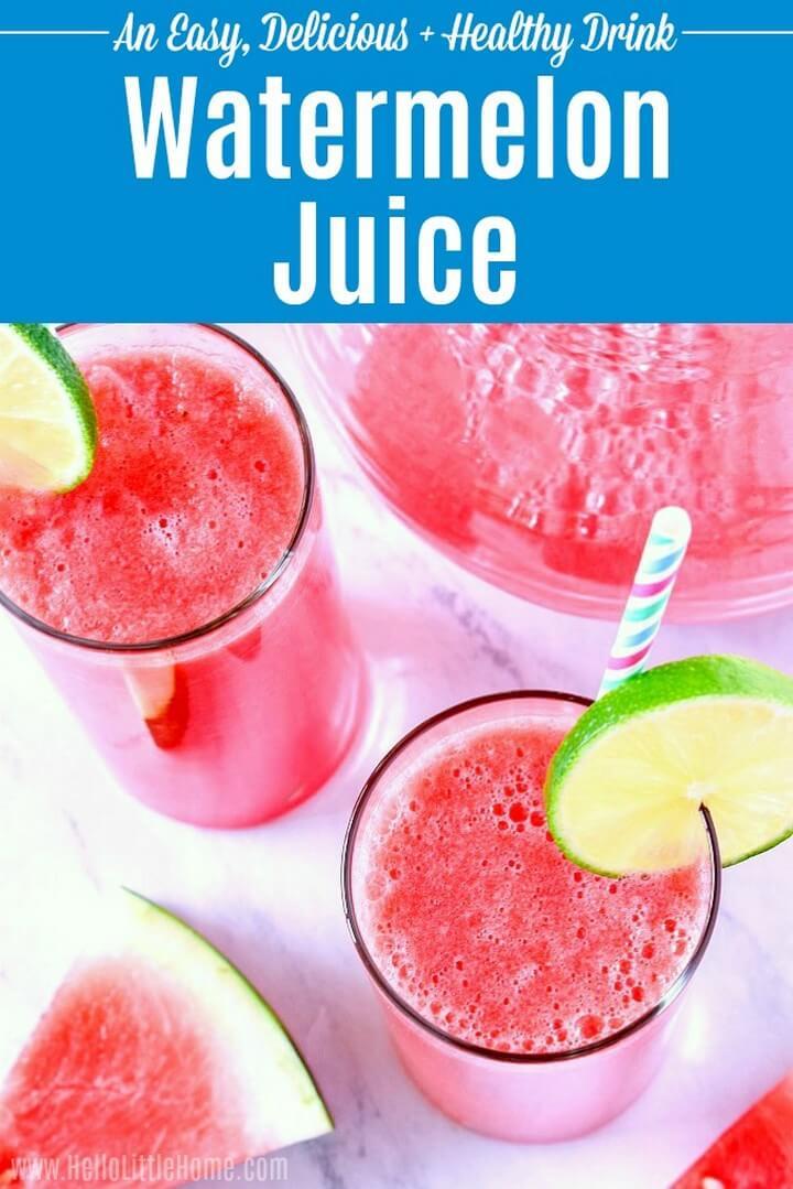Fresh and Easy Watermelon Juice Recipe
