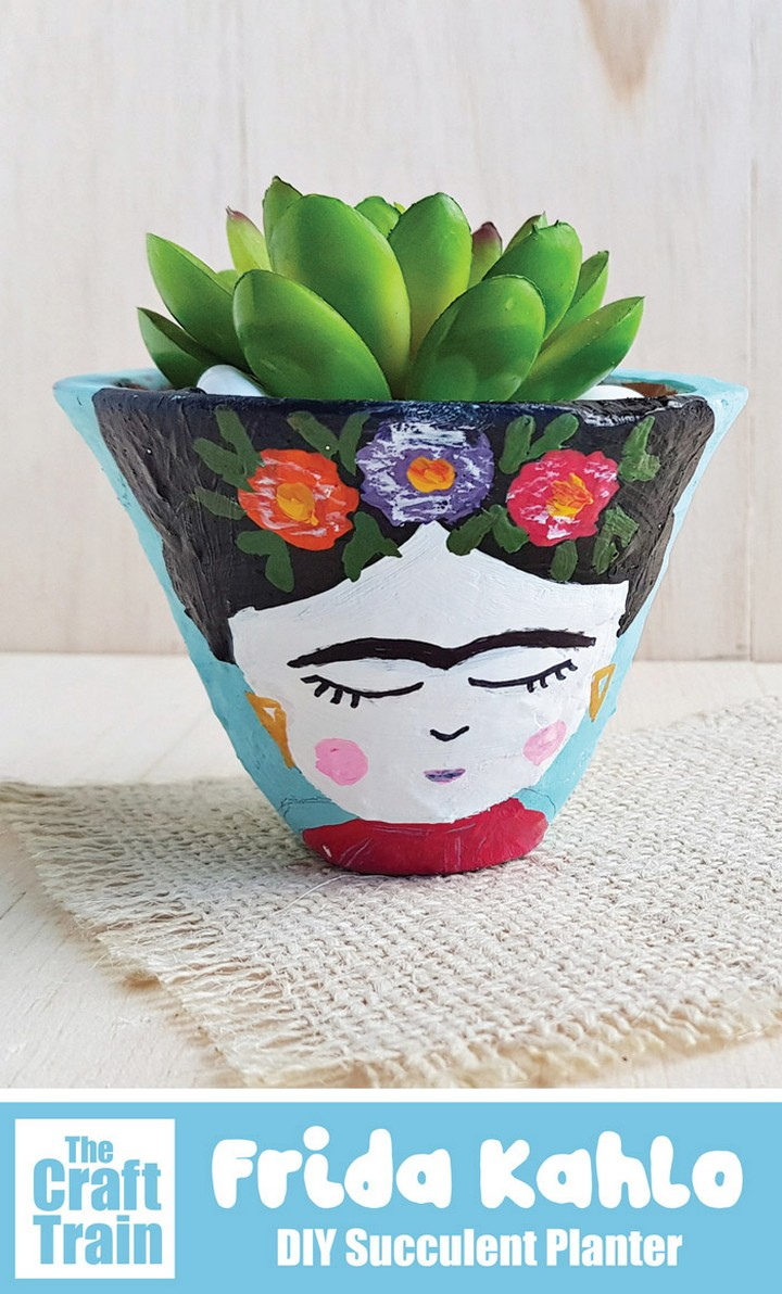 Frida Kahlo DIY Succulent Planter