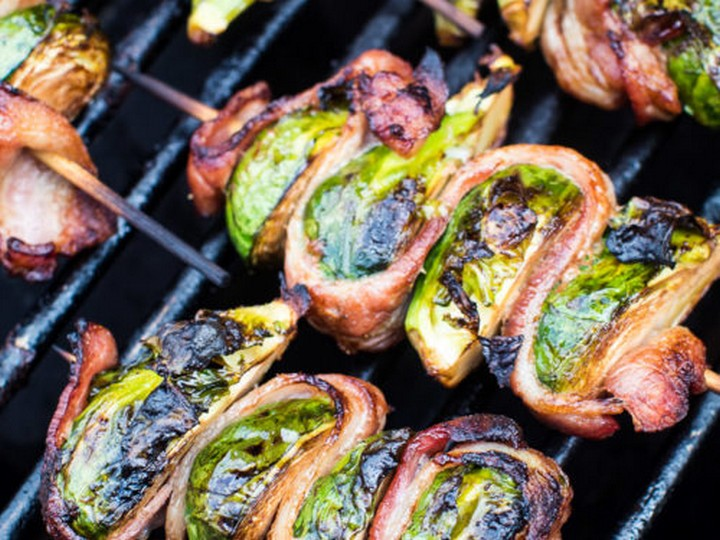 Grilled Bacon Wrapped Brussels Sprouts 1