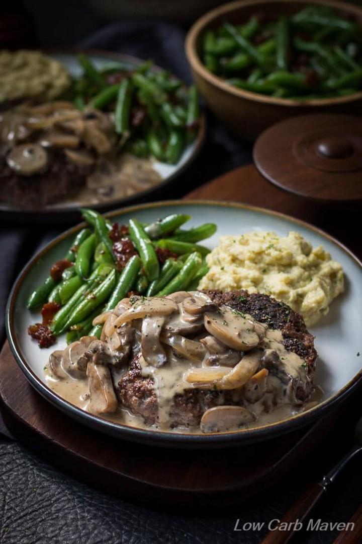 Hamburger Steak and Gravy Recipe with Mushroom Gravy