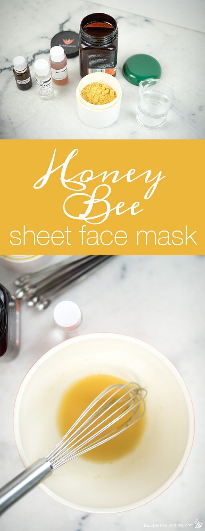 Honey Bee Sheet Face Mask DIY