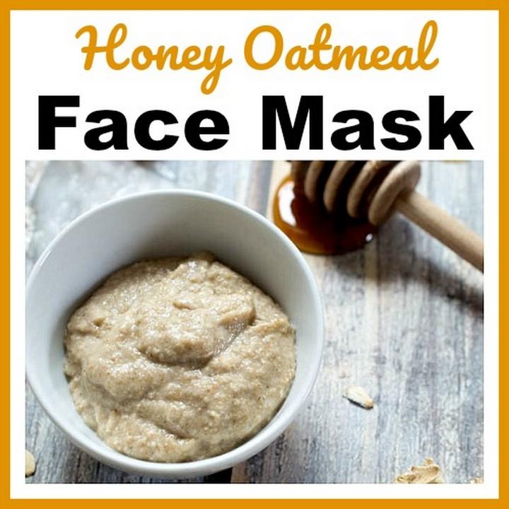 Honey Oatmeal Homemade Face Mask DIY