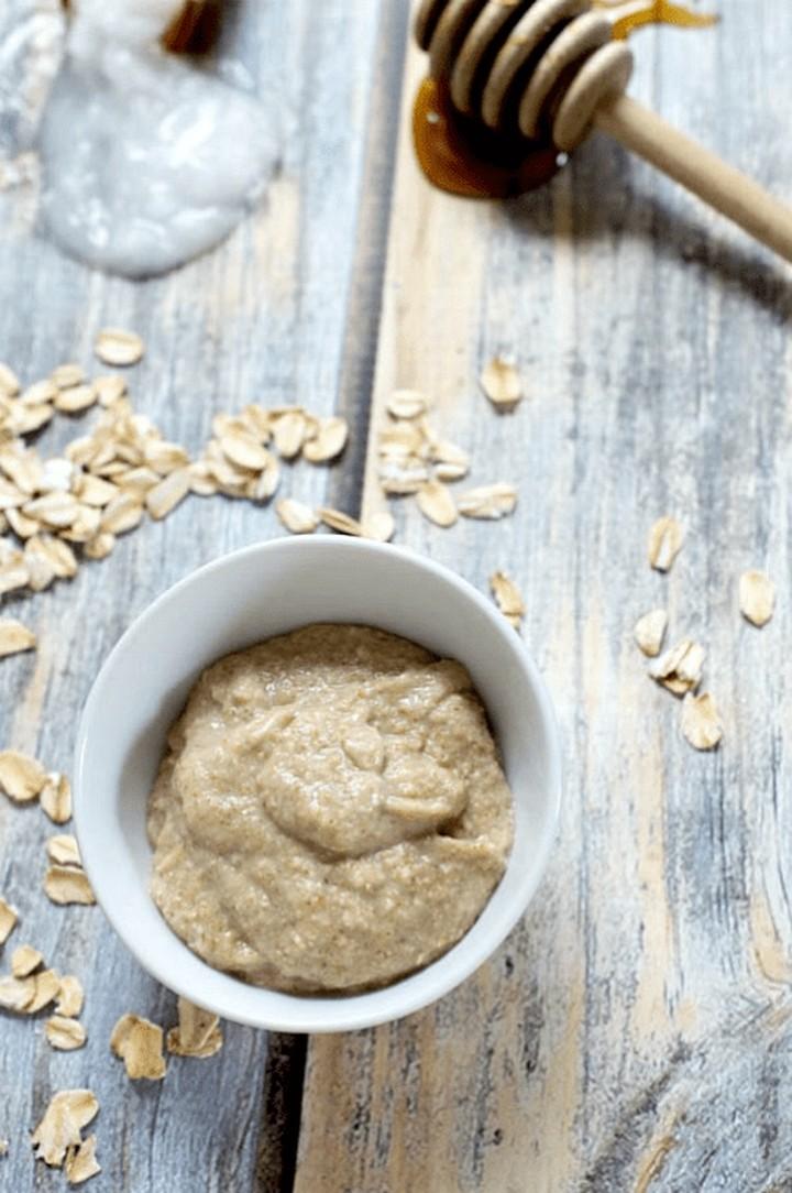 Honey Oatmeal Homemade Face Mask