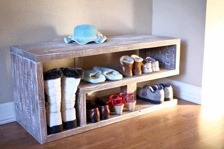 How to Build a Shoe Rack Bench for Entryway