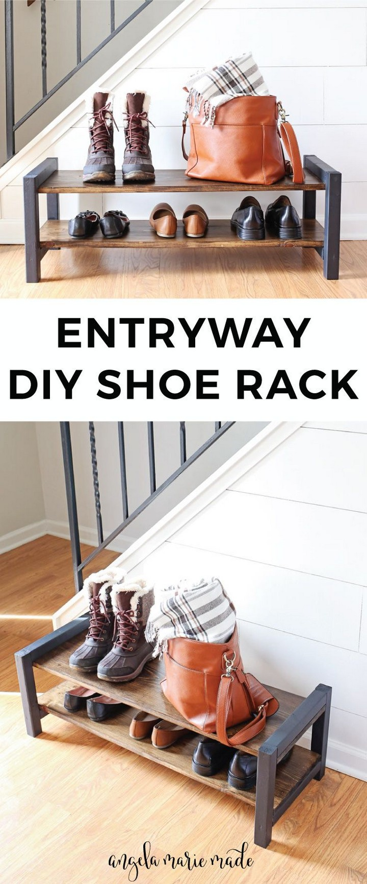 How to Build an Entryway DIY Shoe Rack
