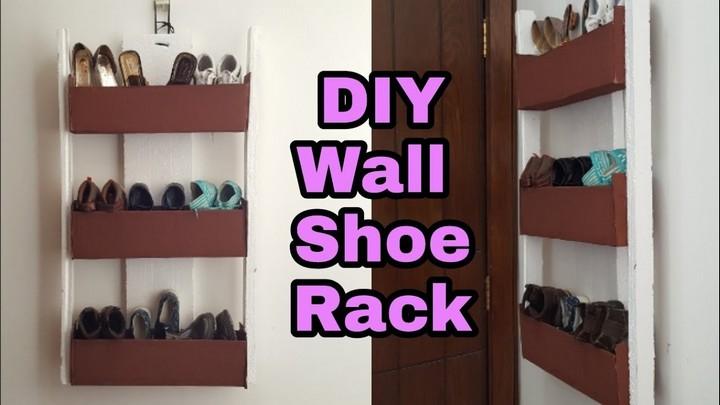 How to Cardboard Shoe Rack Cardboard Shoe Organizer