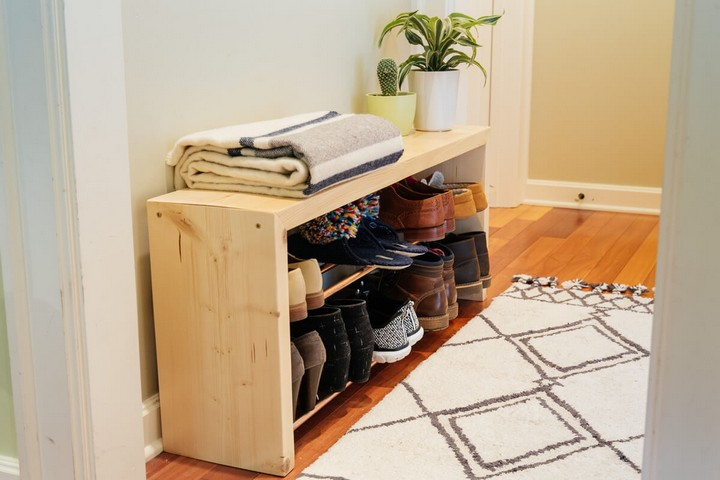 How to Make a Shoe Storage Bench