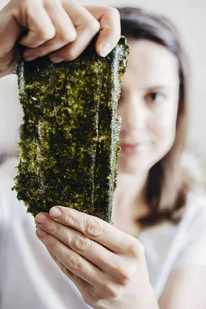 Inside Seaweed Sheet Mask Deconstructed Sushi Bowl