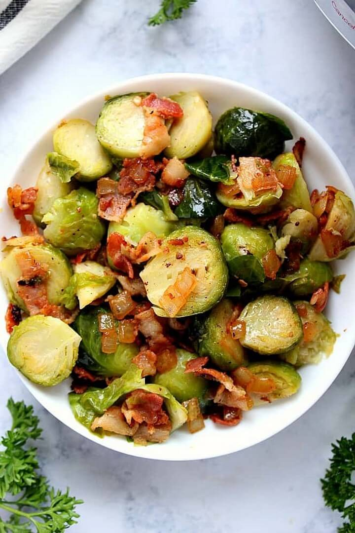 Instant Pot Bacon Brussels Sprouts recipe 2