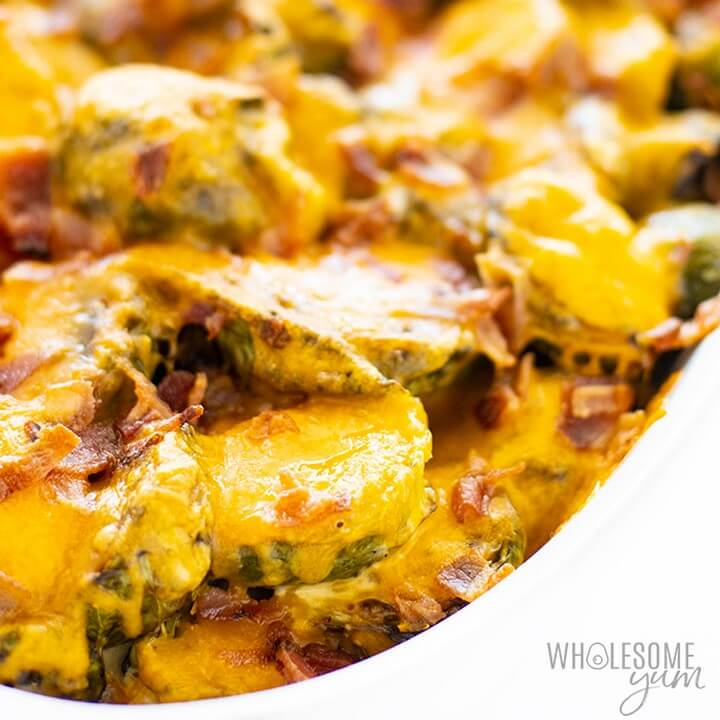 Keto Brussels Sprouts Casserole Recipe With Bacon