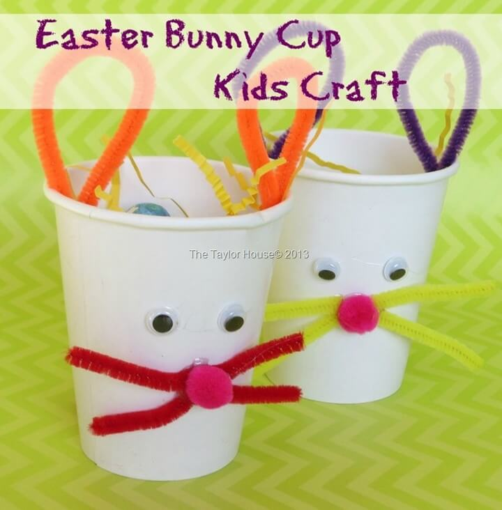 Kids Crafts Easter Bunny Treat Cup