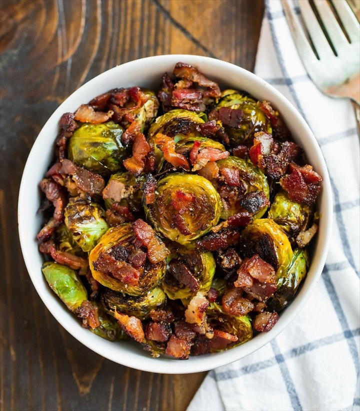 Maple Bacon Brussels Sprouts 1