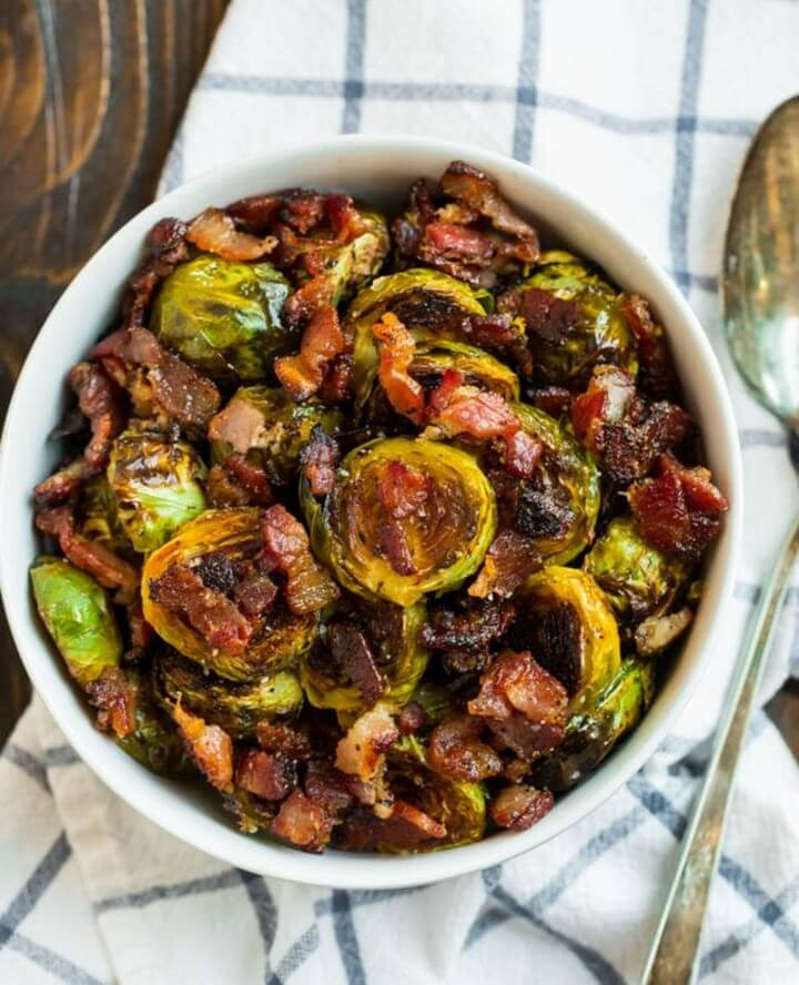 Maple Bacon Brussels Sprouts Easy and DELICIOUS