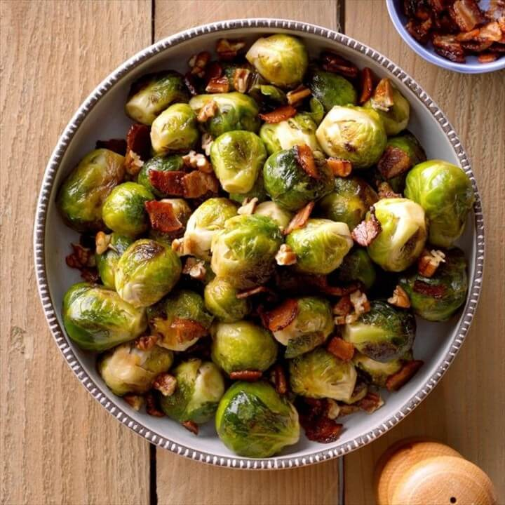 Maple Bacon Glazed Brussels Sprouts 1