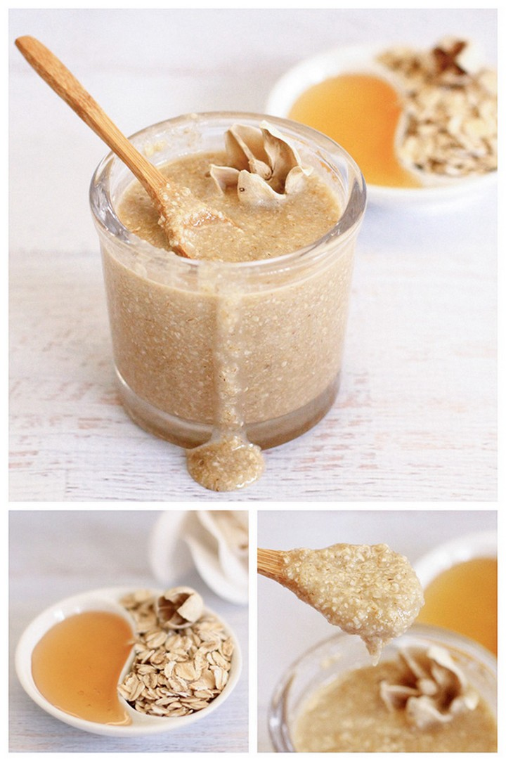 Oatmeal Honey Face Scrub DIY