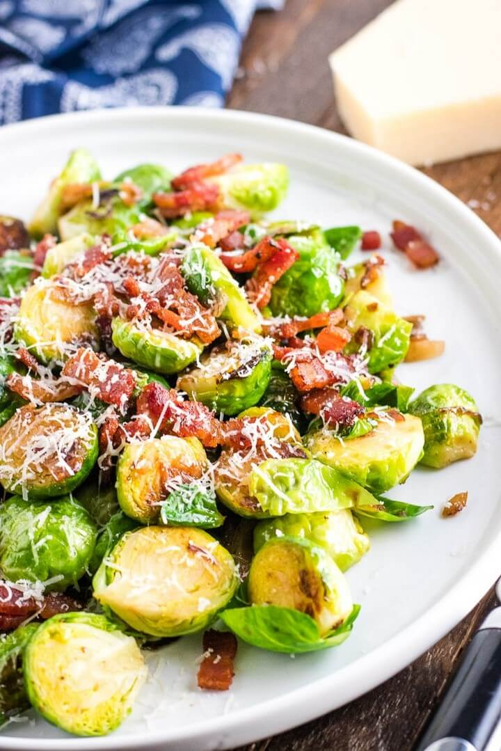 Pan Roasted Brussels Sprouts with Shallots and Bacon 1