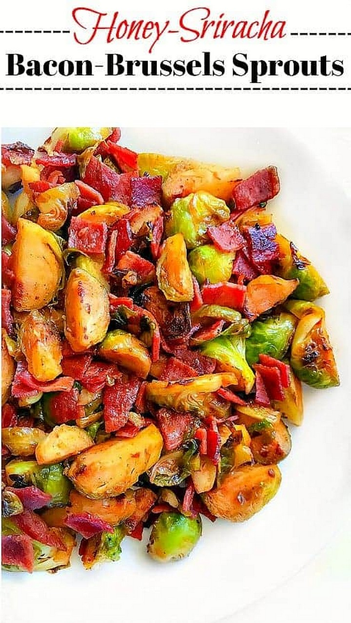 Quick Honey Sriracha Bacon Brussels Sprouts